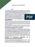 Documentos de Importación y Exportación