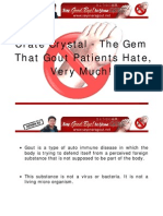 Urate Crystal - The Gem That Gout Patients Hate Very Much