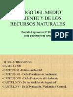CODIGO DE RECURSOS NATURALES Y MEDIO AMBIENTE