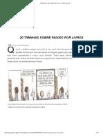 20 Tirinhas Sobre Paixão Por Livros - Galileu _ Livros