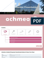 Avéro Achmea Corporate Investor Presentation