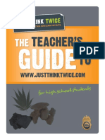 The Teacher's Guide to www.justthinktwice.com