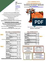 Rural Bookmobile East Fall Schedule