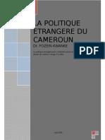 Cours de Politique Etrangère Du Cameroun