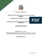 Reglamento FONDOCYT 2015