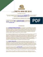 DECRETO 3930 - 2010 USOS Y ORDENAMIENTO DEL RECURSO HIDRICOY VERTIMIENTOS AL RECURSO.pdf