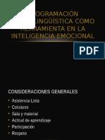 Programación Neurolingüística Como Herramienta en La Inteligencia Emocional