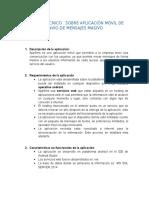 Informe Técnico Sobre Aplicación Móvil de Envío de Mensajes Masivo