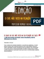 REDAÇÃO_O Que NÃO Fazer Na Redação Do ENEM_Romulo Bolivar