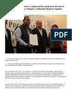 Entregan Mario Uvence y empresarios propuesta de nueva Ley de Turismo para Chiapas a Eduardo Ramírez Aguilar