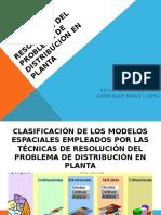 Resolución del problema de distribución en planta