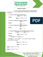 Teoremas de Límite