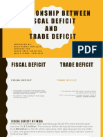 Relationship Between Fiscal Deficit and Trade Deficit