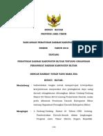 Draft - Raperda Organisasi Perangkat Daerah Kabupaten Blitar