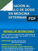 Tmp 7718 Iniciacinalclculodedosisenveterinaria 141002154051 Phpapp01243223583