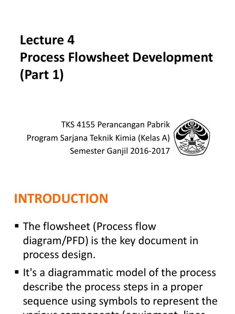 Lecture 4 Fluid Dynamics Valve Process Flow Diagram Pfd