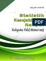 Statistik Kesejahteraan Rakyat Kabupaten Teluk Bintuni 2015
