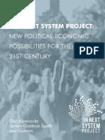 Alperovitz et al - The Next System Project