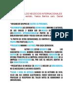 Actores de Los Negocios Internacionales