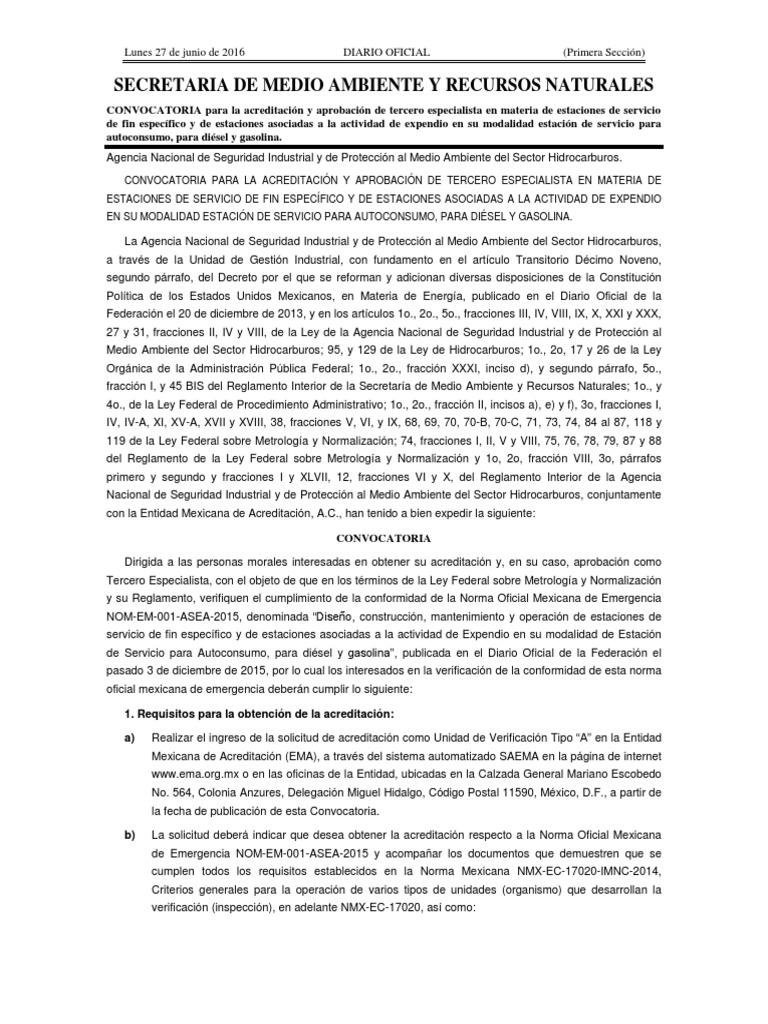 nom em 001 asea 2015 pdf descargar