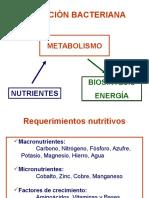 Diapositivas Tema 03. Nutrición y Metabolismo Bacterianos