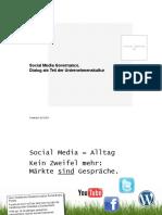 Social Media Governance