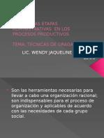 Técnicas de organizacion