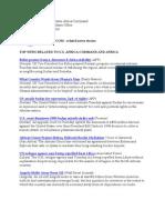 AFRICOM Related News Clips June 9, 2010