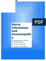 Worm Infestation and Homoeopathy