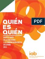 Quién Es Quién en La Publicidad y La Comunicación Digital en España