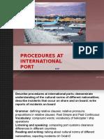 Unit 1 Port Procedure