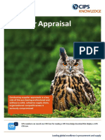 Supplier Appraisal