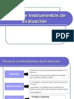 Tecnicas e Instrumentos de Evaluacion SESION 3