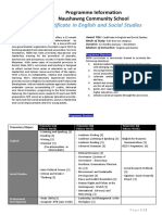 Program Information in English