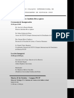 Programación Oficial Del XXVI Coloquio Internacional de Estudiantes de Historia Pucp