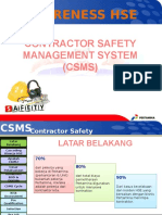 Materi CSMS for Contractor