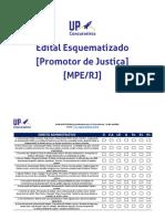 Edital Esquematizado Promotor de Justiça MPE RJ