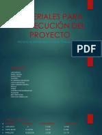 Materiales Didácticos Para El Proyecto