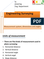 2 Nd Measurement System, Dimensions and Angles