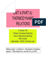 Thermodynamic Relations by Dr. Krishnan