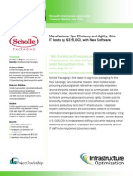 Project Leadership Associates and Microsoft Complete Infrastructure Optimization Case Study for Scholle Packaging