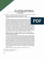 transmisión de Tripanosoma cruzi en zona endemica