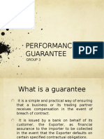 Performance Guarantee under international trade law