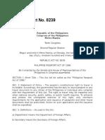 Ra 8239 Phil Passport Act of 1996