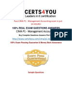 Cima P1 Exam Questions