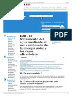 E20 - El Tratamiento Del Agua Mediante El Uso Combinado de l