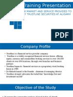 trustline summer training report presentation