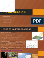 EVAPORACIÓN Expo Hidrología