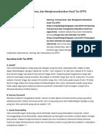 Skoring, Interpretasi, Dan Mengkomunikasikan Hasil Tes EPPS - Ilmu Psikologi
