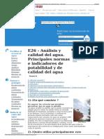 E26 - Análisis y Calidad Del Agua. Principales Normas e Indi